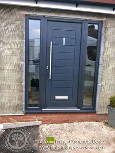 Composite Front Door Grey Link Ideas For 2019 Grey Composite Front Door, Grey Front Doors, Modern Front Door, Wooden Front Doors, Front Door Entrance, Exterior Front Doors, House Front Door, Front Door Colors, Doors