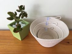 Rope Bowls  | Tableware | Home Decor by QuiltAroundTheClock on Etsy https://www.etsy.com/au/listing/514647335/rope-bowls-tableware-home-decor