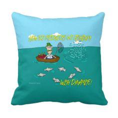 Redneck Fishing Joke Pillow