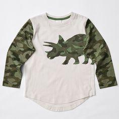 Long Sleeve Dino Camouflage Top   Target Australia