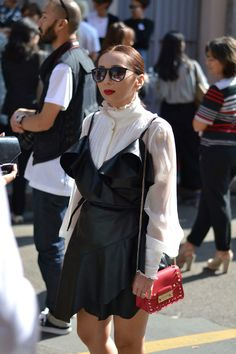 Streetstyle look at Milan Fashion Week