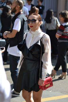 Streetstyle look at Milan Fashion Week
