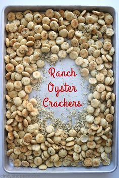 These Ranch Oyster Crackers are such a simple snack to make. You will find them perfect for feeding a crowd, great in lunch boxes, or for a movie night snack idea. Ranch Oyster Crackers We Lemonade Tea Recipe, Passion Tea Lemonade, Snacks To Make, Easy Snacks, Healthy Snacks, Savory Snacks, Ranch Oyster Crackers, Cherry Cheesecake Dip, Movie Night Snacks