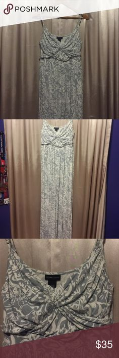 Maxi dress Maxi dress with crisscrossed bodice. Adjustable straps. Material had spandex for a great fit. New York & Company Dresses Maxi