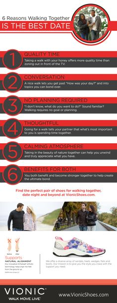 The couple who walks together stays together. Read 6 reasons why walking together is the best Valentine's Day date.