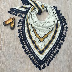 Crochet Butterfly shawl with clover edge, crocheted by Nuggimill on Ravelry (free shawl pattern Butterfly stitch prayer shawl by njSharon and DebiAdams)