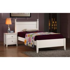 Catalina White Twin Bed | Overstock.com Shopping - Great Deals on Kids' Beds