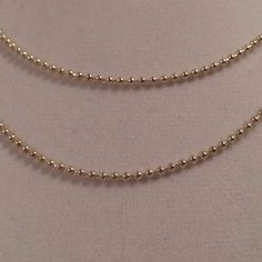 Vintage Sterling Silver 925 Bead Chain Necklace by JewelryGeeks, $18.99