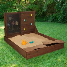 Activity Sandbox Bring the beach to your backyard with this fun Activity Sandbox. Kids will have a blast building sandcastles and creating playful artwork on t