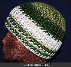 rib look hat pattern