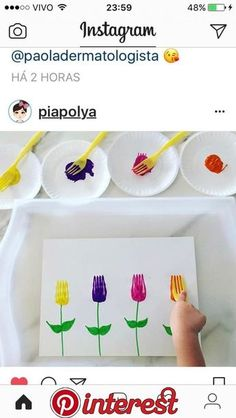 Mothers Day Crafts For Kids Preschool Preschool Crafts, Fun Crafts, Diy And Crafts, Arts And Crafts, Paper Crafts, Spring Craft Preschool, Creative Crafts, Toddler Learning Activities, Craft Activities