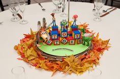 You Have to See This Wedding s Insanely Detailed Centerpieces Based on Disney Movies Toy Story Centerpieces, Disney Wedding Centerpieces, Flower Centerpieces, Wedding Decorations, Wedding Centrepieces, Centerpiece Ideas, Disney Decorations, Wedding Bouquets, Wedding Flowers