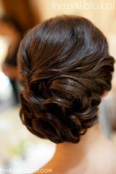 fryzura na wesele upięcie grzywka - Szukaj w Google