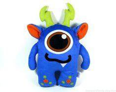 Monster Plush Toy Monster Stuffed Toy Animal Plush Monster Nursery Pillow Toy Easter Basket For Boy Kawaii Pillow New Baby Gift Toddler Gift