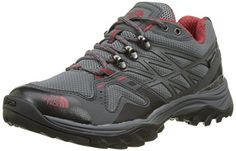 The North Face Hedgehog Hike Goretex, Chaussures de Randonnée à Tige Basse Femme - Gris - Grey (Dark Gull Grey/Tomato Red Apn), 38 EU