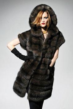 Sable #hooded #fur.  http://www.rosendorfevansfurs.com/