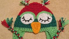 Adult Christmas Owl Hat Teen Christmas Owl by TheFlyButterFactory, $14.95