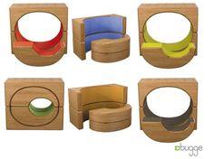 """Los muebles modulares """"Bugge"""" retan la creatividad de los niños"""
