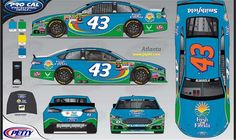 To run at Atlanta in March and Talladega in Oct http://www.jayski.com/news/schemes/2015/story/_/page/2015-NASCAR-Sprint-Cup-43-Team-Schemes