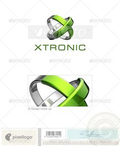 Technology Logo - 3D-667 — Photoshop PSD #xtronic #rings • Available here → https://graphicriver.net/item/technology-logo-3d667/497126?ref=pxcr