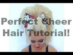 Perfect Cheer Hair Tutorial! - YouTube All Star Cheer, Cheer Mom, Cheer Stuff, Cheer Hair Tutorial, Cheer Hair Poof, Cheer Hairstyles, Cheerleader Hairstyles, Cheerleading Hair, Competitive Cheerleading