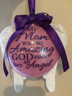 Missing my mom. Easy Christmas Decorations, Christmas Ornament Crafts, Christmas Balls, Holiday Ornaments, Simple Christmas, Holiday Crafts, Christmas Crafts, Homemade Christmas Gifts, Xmas Gifts