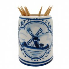 Delft Blue Dutch Toothpick Holder