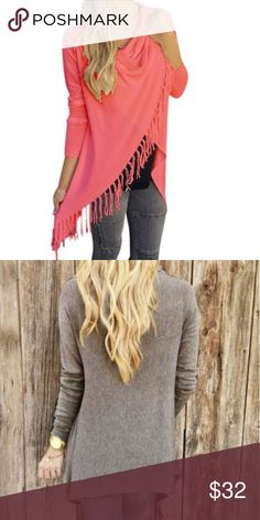 ♨️One day only sale.♨️ Great addition to any fall wardrobe. Super cute asymmetrical side tassel cardigan. Picture 1 is the color picture 2 is to show back style only. Price firm. Boutique Sweaters Cardigans