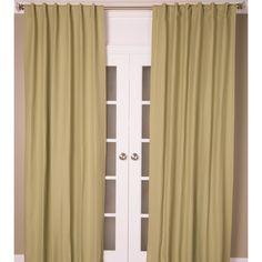 Cotton Linen Blend Color Curtain Panel