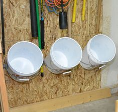 Installing a Bucket Storage Rack - I'm always looking for storage in my hybrid garage / workshop. I found a small section of open wall space under my garden too…
