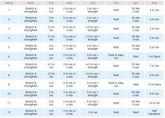 Half-Marathon Training Schedule