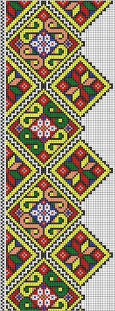 Este es un bonito esquema con tendencia étnica para tejer a dos agujas . Se trata de una cenefa  que combina diferentes colores, precioso p...