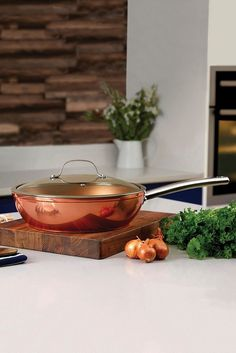 Image for Tower Copper Forged Multi Pan from studio Copper Tray, Copper Lamps, Copper Rose, Copper Color, Copper Kitchen Accessories, Pen Sets, Kitchen Essentials, Tower, Studio