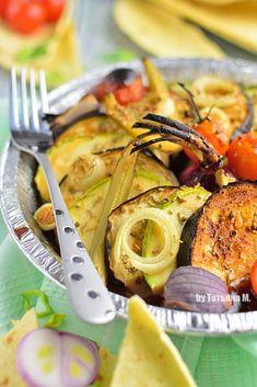Овощная тарелка, запеченная под грилем