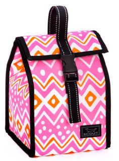 This super-cute Scout Lunch Bag features a PVC-free interior and a buckle closure to keep everything secure.