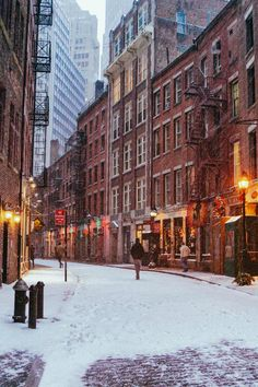 New York City's Stone Street in the Snow By Vivienne Gucwa