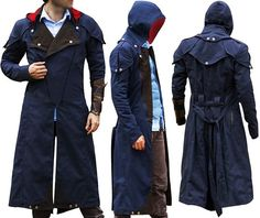 """Assassin's Creed Unity Arno Victor Dorian Denim Cloak Cosplay Coat Hoodie Jacket  https://www.amazon.com/Assassins-Creed-Dorian-Costume-jacket/dp/B06WWL1KPR  Be Fashion Forward in this Unbeatable and Timeless Piece of Assassin's Creed Unity Coat. This Masterpiece is Inspired by Popular Video Game Series """"Assassin's Creed Unity"""", in which character Arno Dorian Wore this Piece. This Coat is Extremely Elegant to Seem in an Electrifying Outlook. This Fashionable Piece of Arno Dorian Coat has…"""