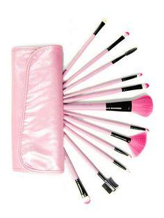 Makeup Brush Kit With Pink Case