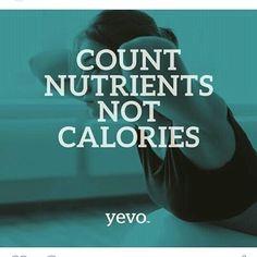 Bombardeos diarios de publicidad engañosa nos han llevado a la tendencia de contar calorías, pero dejamos de lado lo mas importante, los nutrientes, CON YEVO CUENTO NUTRIENTES Y NO ME PREOCUPO DE LAS CALORÍAS, porque mereces lo mejor de lo mejor #soyevolucion
