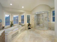 Master Bathroom Tub - Private Residence in Naples - tropical - bathroom - miami - Don Stevenson Design Bathroom Layout Plans, Master Bathroom Layout, Bathroom Ideas, Master Bathrooms, Master Baths, Bathroom Designs, Luxury Bathrooms, Modern Bathrooms, Dream Bathrooms
