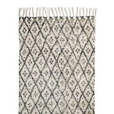 Nordal Diamonds Vloerkleed Zwart/Wit - 75 x 150 cm