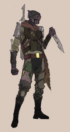 Another Hunter Armour Concept Character Design Sketches, Fantasy Character Design, Character Design References, Character Design Inspiration, Character Concept, Armor Concept, Concept Art, Apocalypse Character, Male Character
