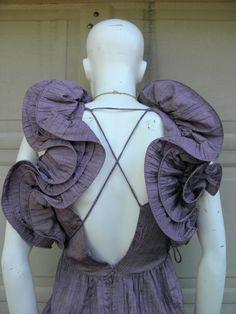 Vintage 70s Purple Vintage Origami Crinkle Dress. $139.00, via Etsy.