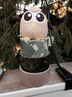 Owly is in love with this woodsy duct tape!  Day 245 of #yearofowly #lifeofowly