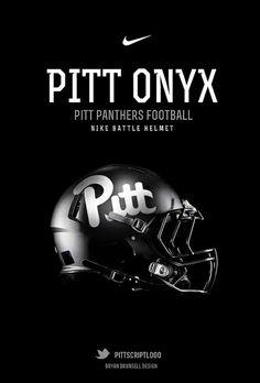 Pitt Panthers Football Helmet Onyx Midnight