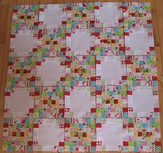 This is a fun layout! Quilty WIP by Rachel of Not-so-Plain Jane.