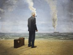 An insight to Teun Hocks' surrealist self-portraits Modern Surrealism, Dutch Artists, Art For Art Sake, Contemporary Paintings, Art Direction, Cosmic, Art Photography, Famous Photography, Conceptual Photography
