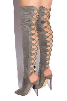 0a80a233eb3 Judy MartinezKnee high boots · Lola Shoetique - Rising Up - Grey