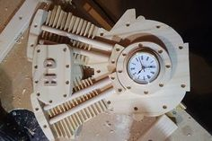 Harley Davidson Clock : 11 Steps - Instructables Table Saw Workbench, Harley Davidson Signs, Make A Clock, Basic Tools, Dark Stains, Basic Shapes, Home Depot, Woodworking Projects, Projects To Try