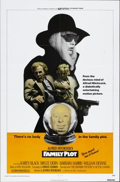"""Poster for Family Plot (1976) - """"There's no body in the family plot"""""""